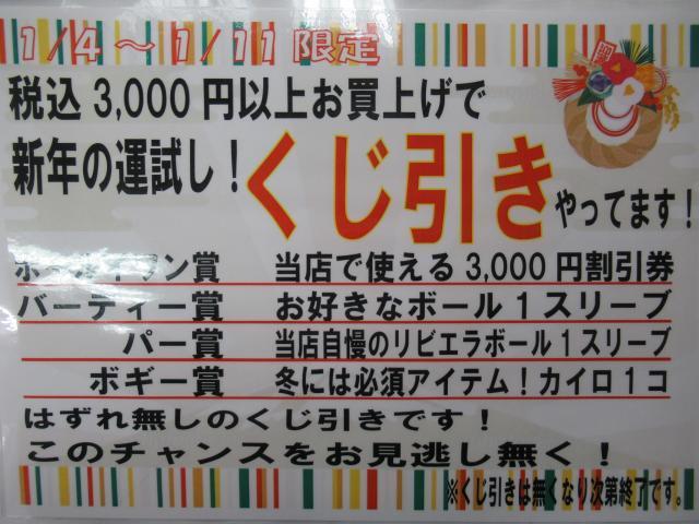 新年の運試し!くじ引き開催中!