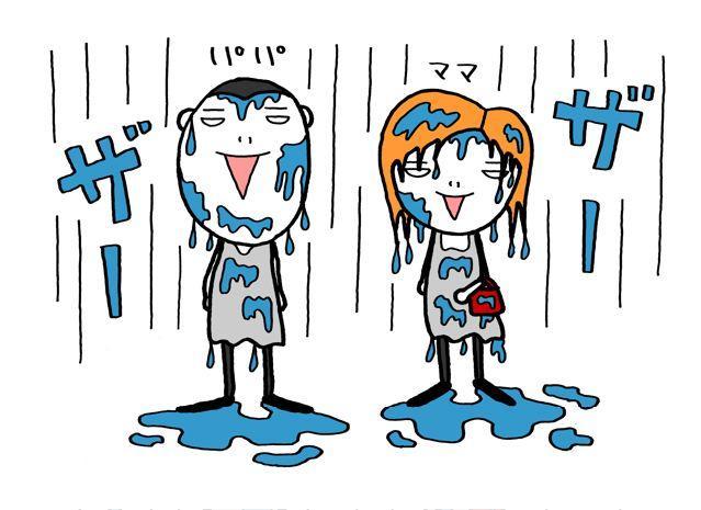 今日の雨はすごい