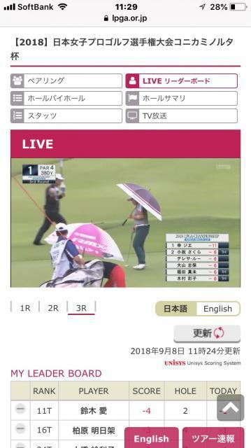 店長のつぶやき⑰~日本女子プロゴルフ選手権、ライブ放送~